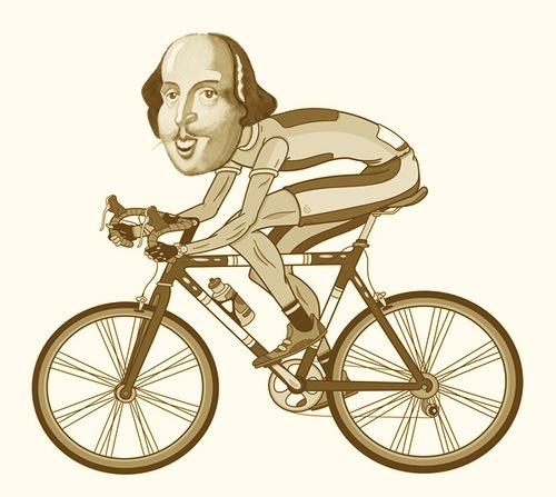 shakespeare-on-bike