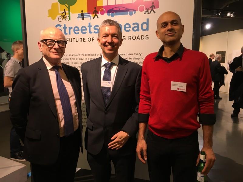 Peter Murray (left), Mike Brown and Ashok Sinha.